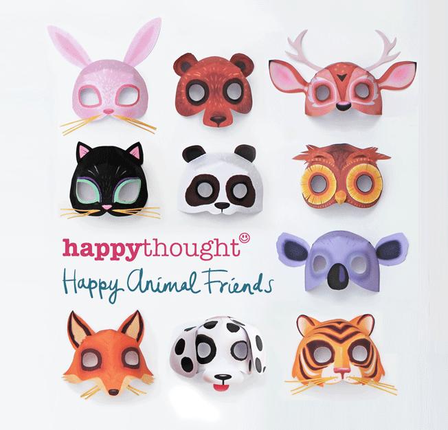 Máscaras imprimibles de animales. ¡Descarga sencillas plantillas ahora!