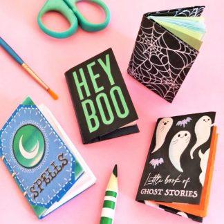 4-mini-books-fun-Halloween-diy craft templates