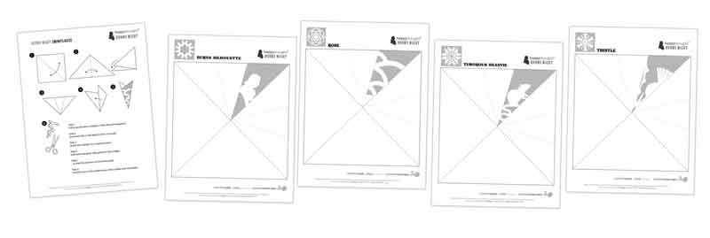 BURNS NIGHT SUPPER Snowflakes templates and patterns for decorations