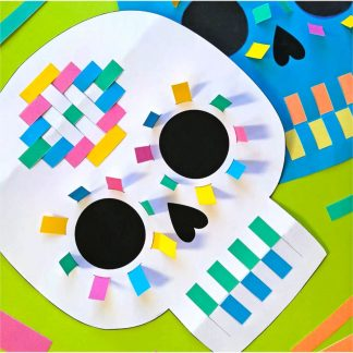 Calalvera paper weaving templates DIY craft