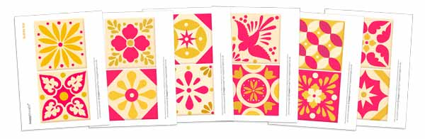 Printable talavera tile templates - Ceramic style ceramica tiles