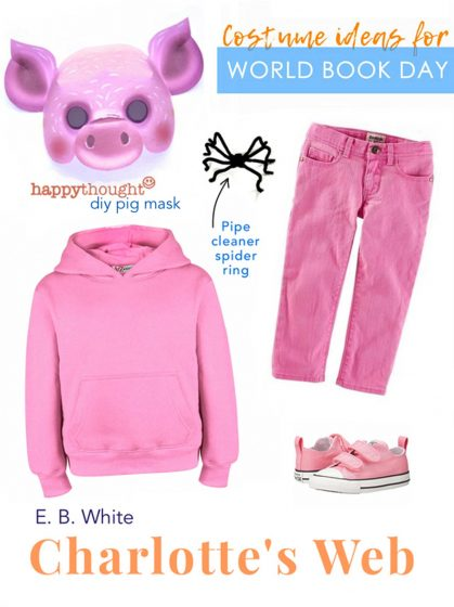 pig mask to dress up in a costume for Charlotte's Web book