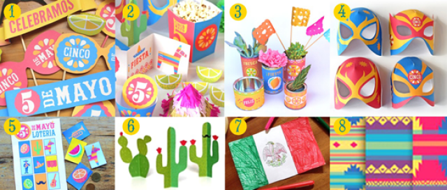 Craft activity 5 de Mayo printables