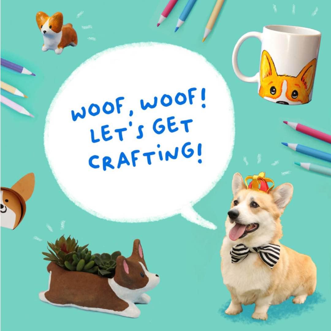 Corgi Crafts book-lets get crafting