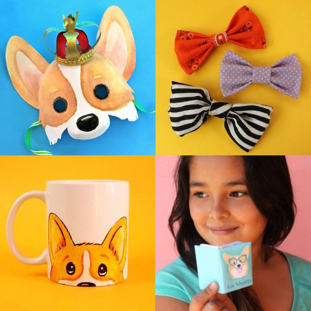 Corgi book- masks mugs mini books templates