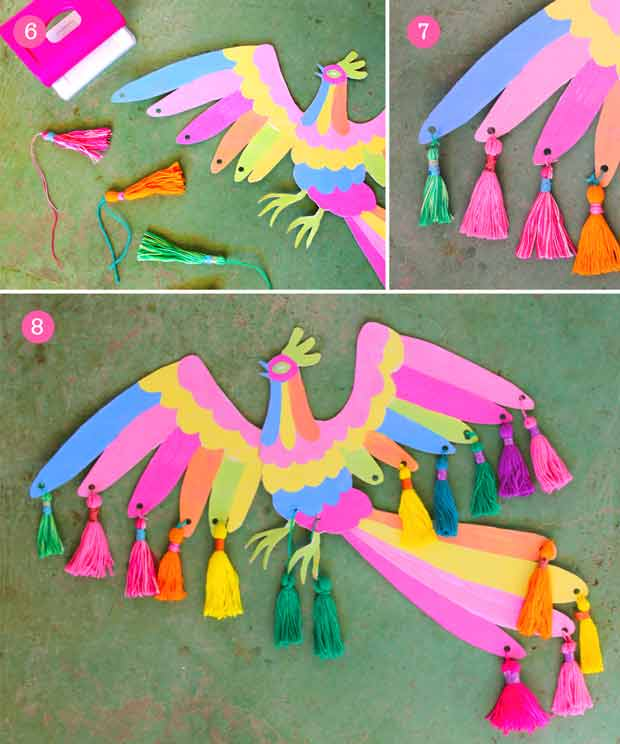 Craft a quick Otomi inspired animal craft project using our simple photo instructions