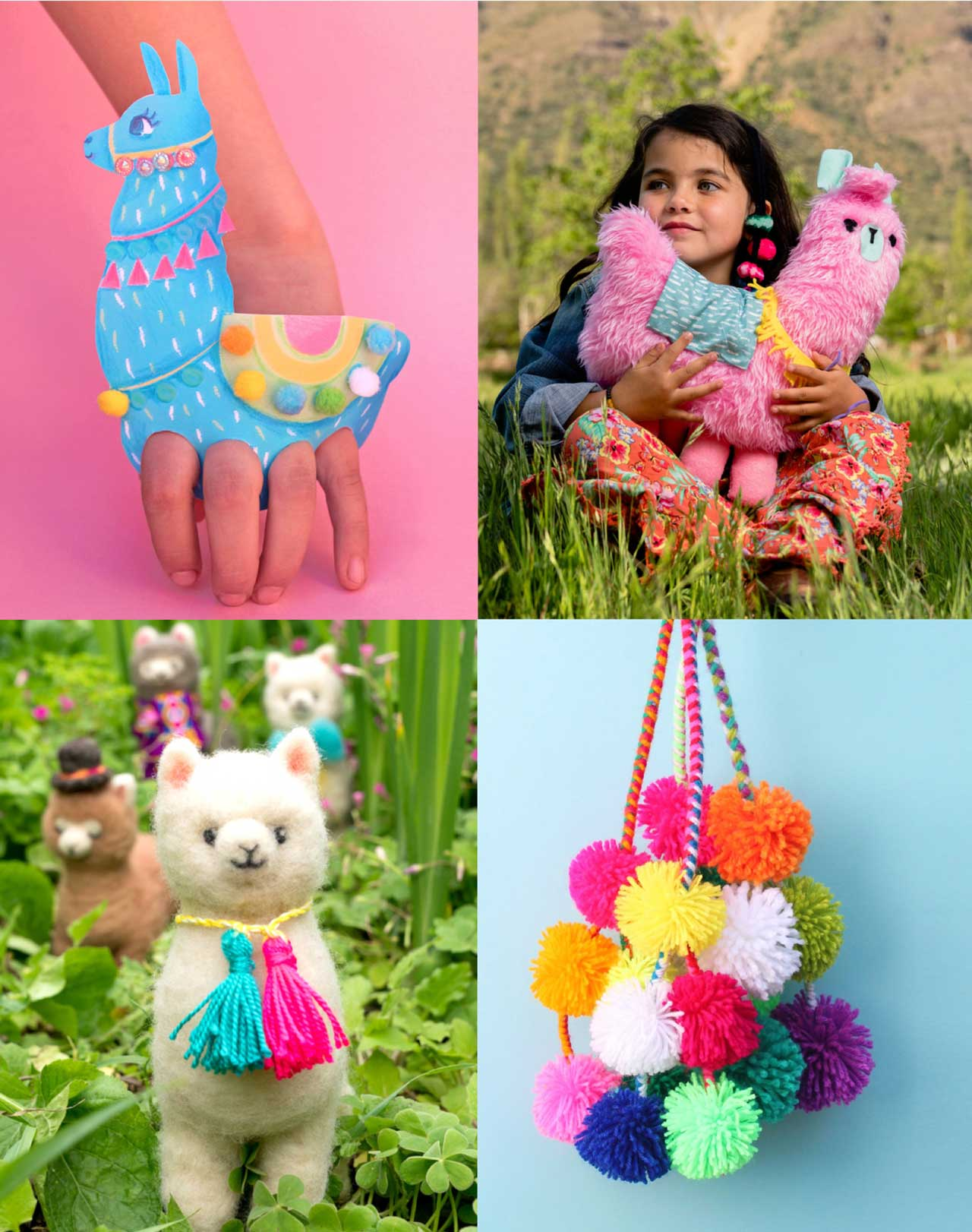 Create fantastic llama crafts with 18 crafts featured in our book 'Llama Crafts'