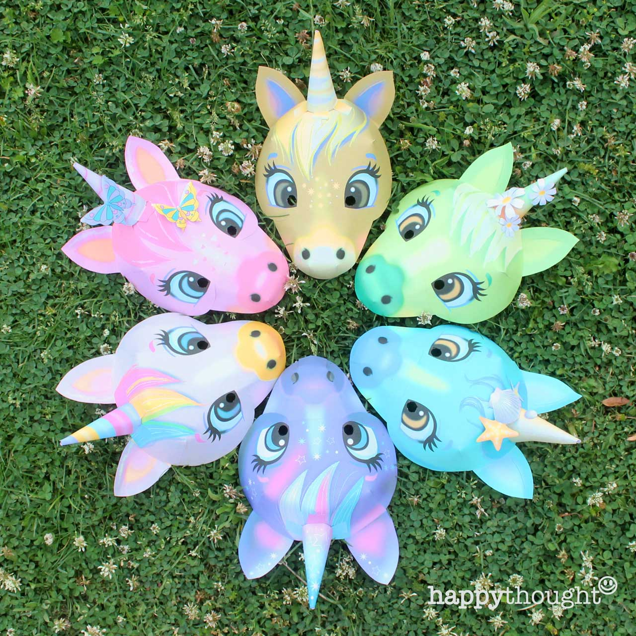 DIY at home or in class s easy to make unicorn mask templates and instructions