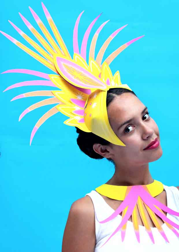 DIY carnival head piece to make and wear for fiestas