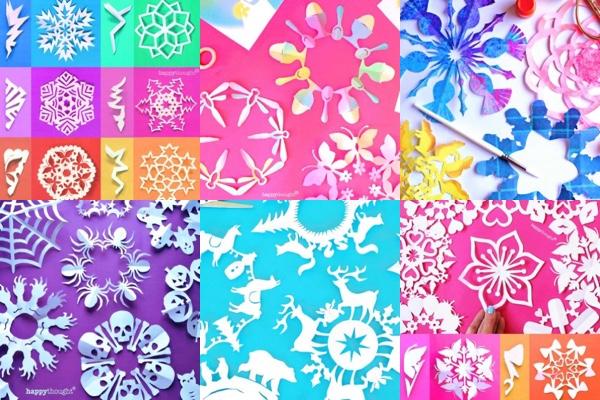 DIY make snowflake patterns for Holiday decorations