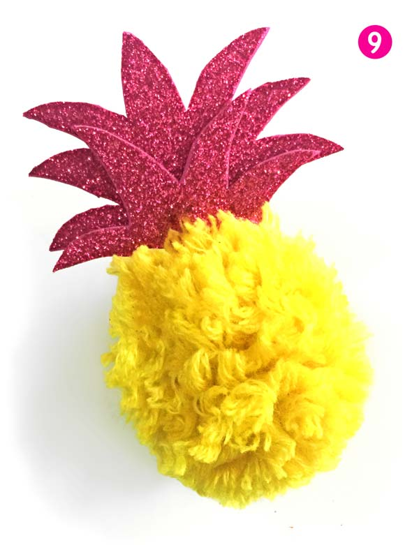 How to make a DIY pineapple - Homemade DIY pineapple craft project: