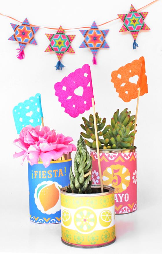 Printable tin can labels: Cinco de Mayo printable decorations!