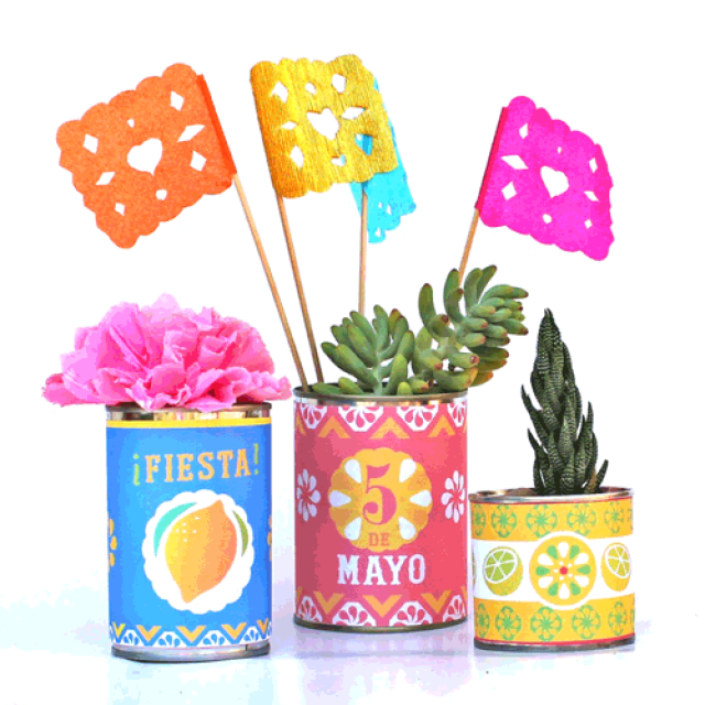 Mexican tin can labels tutorial
