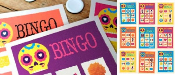 El Dia de los Muertos, Day of the Dead loteria game: Printable games templates!