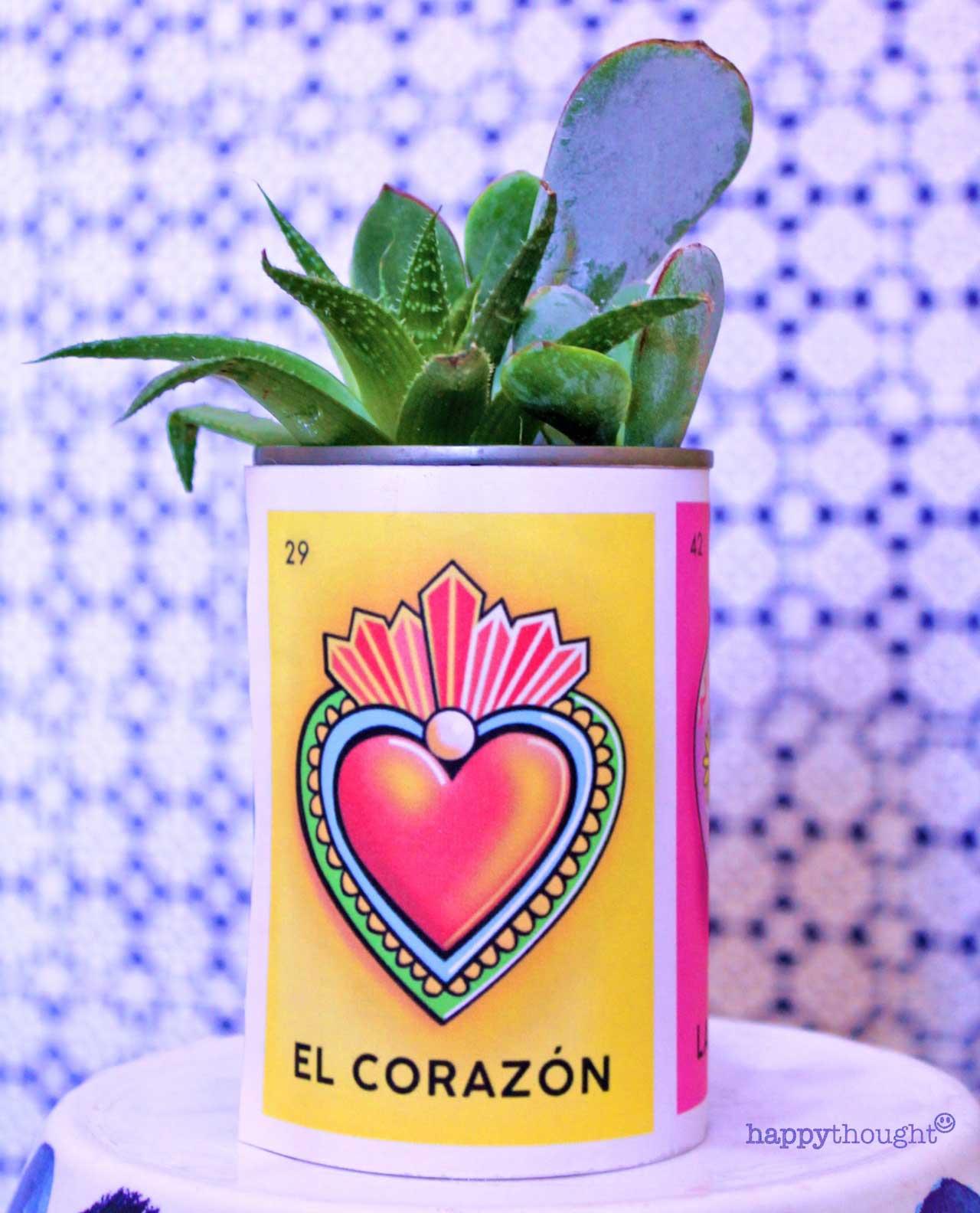 Day of the Dead loteria el corazon label craft DIY