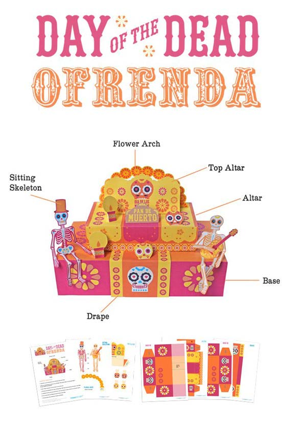 how to make an ofrenda use easy paper craft template