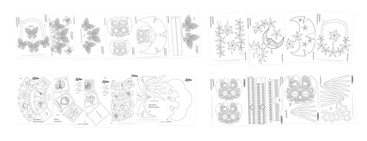 Day of the Dead templates paper crowns printable PDF