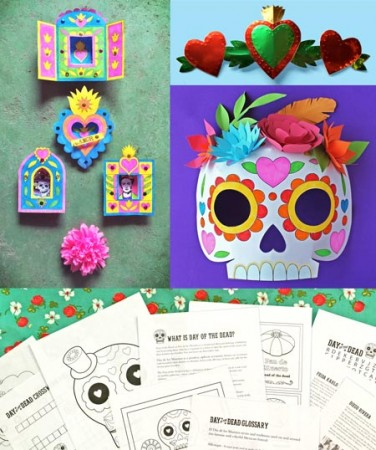 Day of the Dead activity worksheets: 5 activities for class or homeschool!