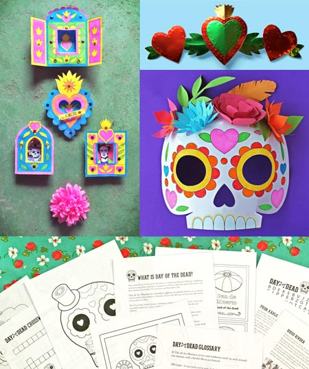 Day Of The Dead Worksheets Learn With Printable Kids