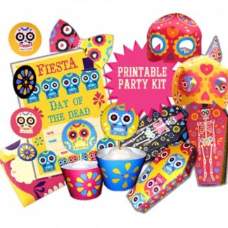 Day of the Dead or Dia de los muertos fiesta ideas: Templates and crafts!