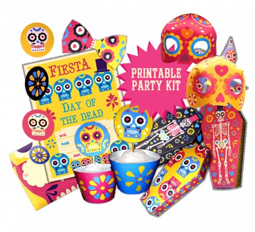picture about Cool Printables called Dia de los Muerto celebration printables package
