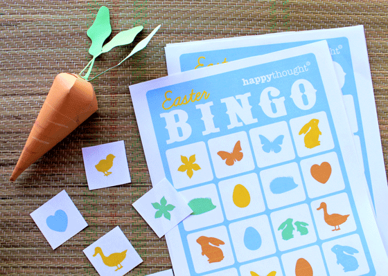 Easter game ideas - Printable DIY Bingo templates!