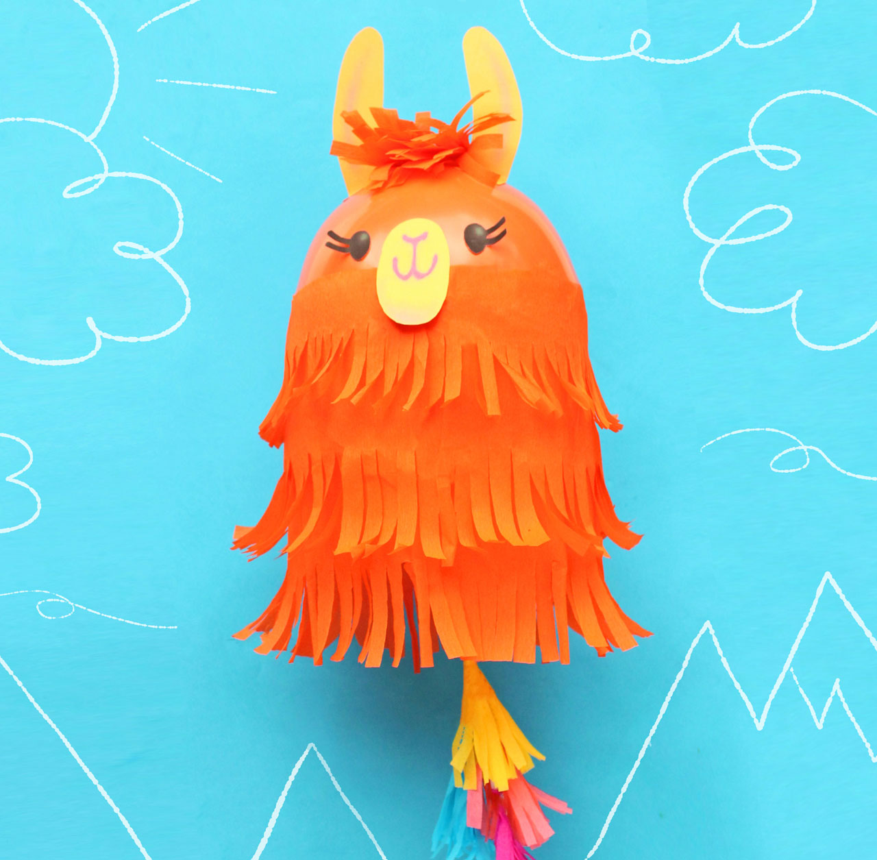 Easy to make a brilliant llama balloon decoration