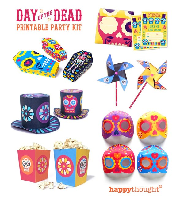 photograph regarding Printable Craft Templates called Dia de los Muertos printables. 23 interesting Do-it-yourself guidelines + templates!