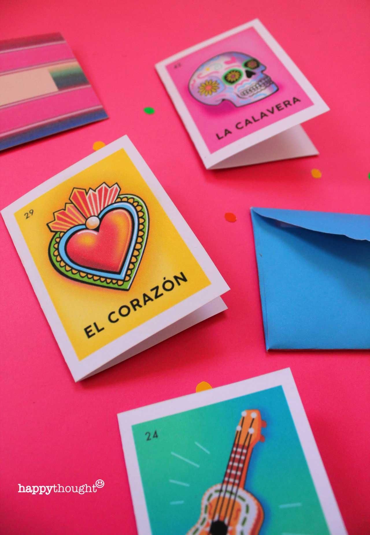 El Dia de los Muertos loteria cards DIY ideas