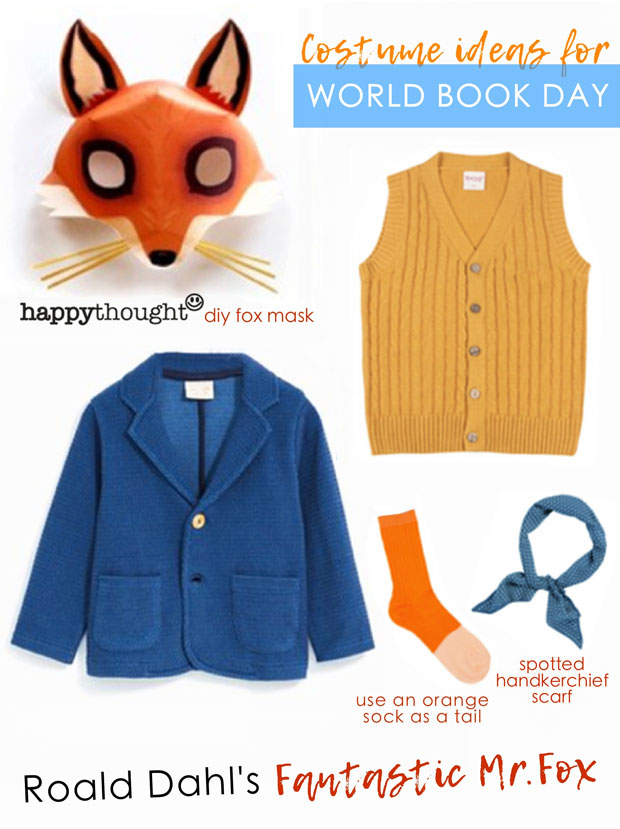 Fantastic Mr Fox Roald Dahl's easy mask and costume idea for world book day