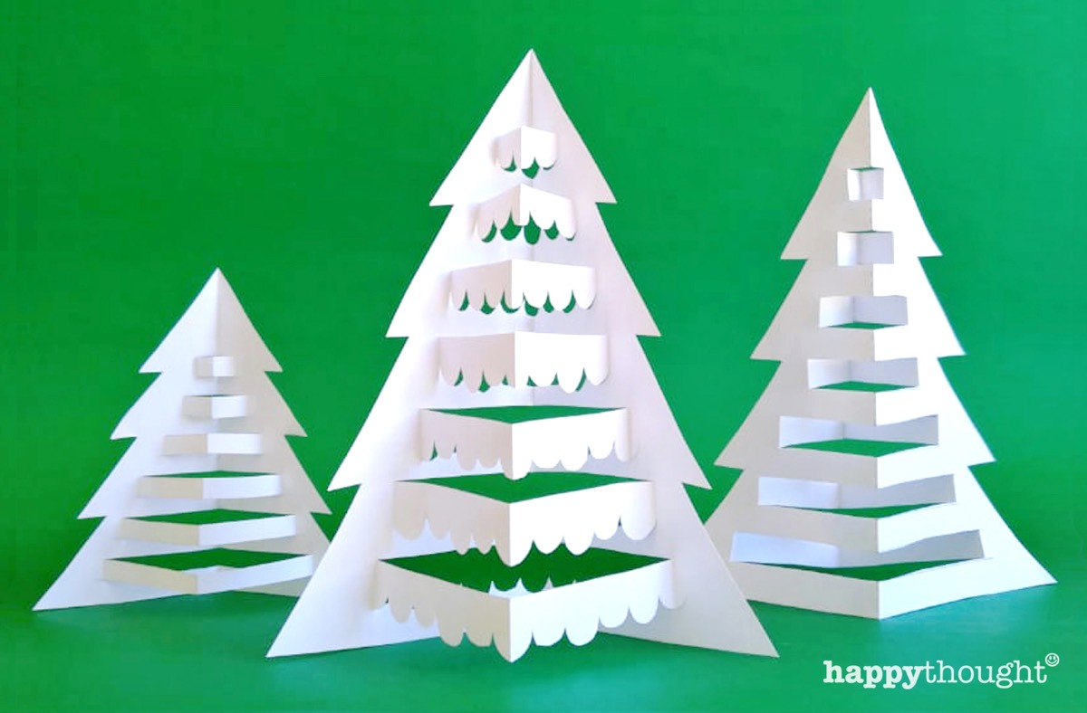 Festive Holiday craft pack - DIY paper tree craft decorations
