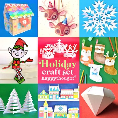 Festive Holiday craft pack - ideas, decorations and diy templates