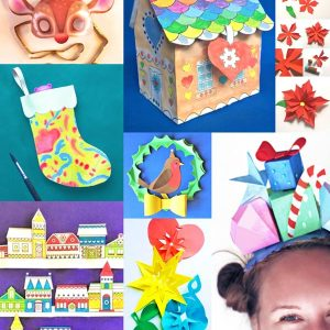 Check out all these festive holiday craft activities!