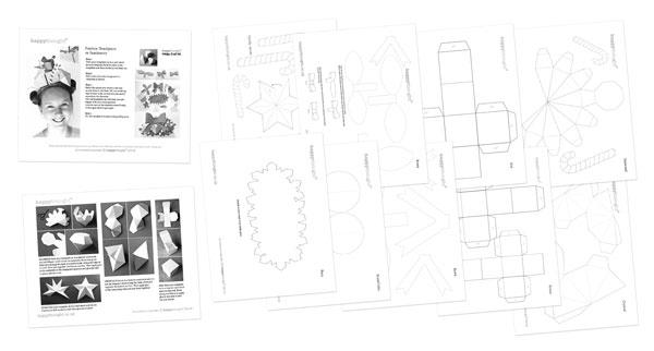 Fun festive craft activity worksheets fascinator