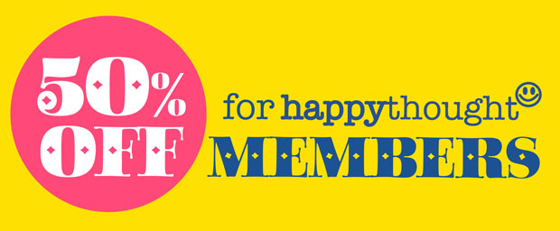 Happythought membership benefits - 50% off plus free templates