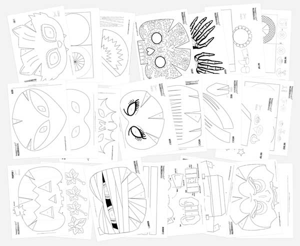 photo about 3d Paper Mask Template Free Printable referred to as Spooky printable Halloween masks: 10 uncomplicated deliver Do-it-yourself Halloween