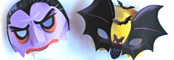 10 Super Spooky printable Halloween masks!