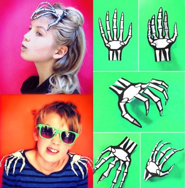 Halloween-skeleton-hand-printable-template-easy-costume-idea