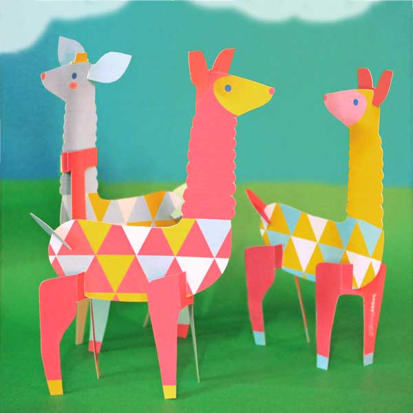 How to make your own colorful Happythought Llamas from our simple PDF templates + instructions!