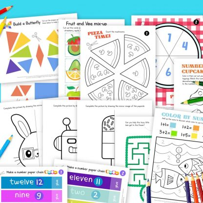 Pre schoolers early learning easy and fun homeschool or classroom activity worksheets