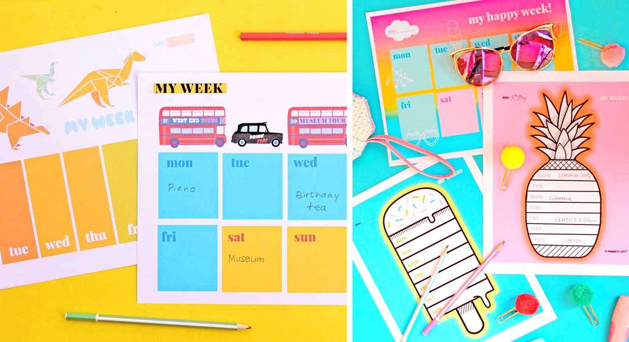 Help organise your life with Happythought's printable weekly planner