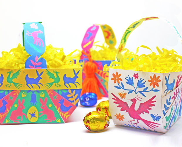 How to make DIY Easter Baskets with templates and instructions
