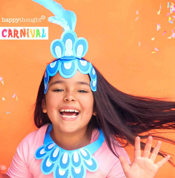 How to make a instant paper headdress trinidad paper crown costume DIY street party