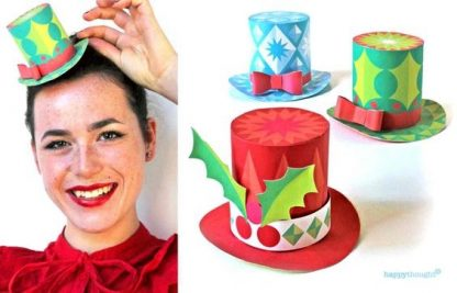 How to make a festive paper hat for Christmas