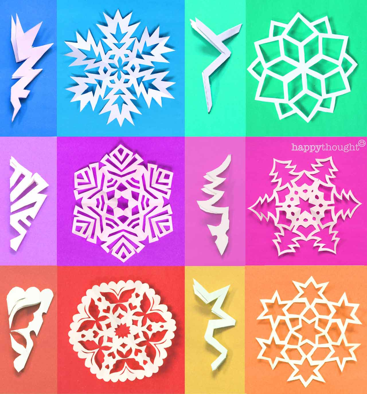 Make your own paper snowflake with PDF printable templates