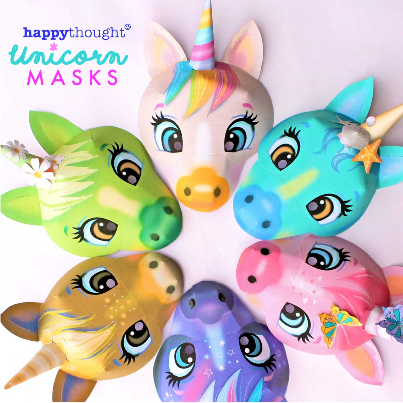 Just in - How to make a unicorn mask templates and instructions