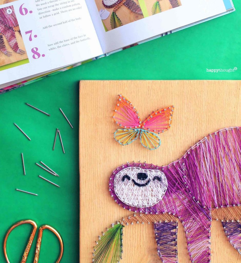 How to make and create sloth string art