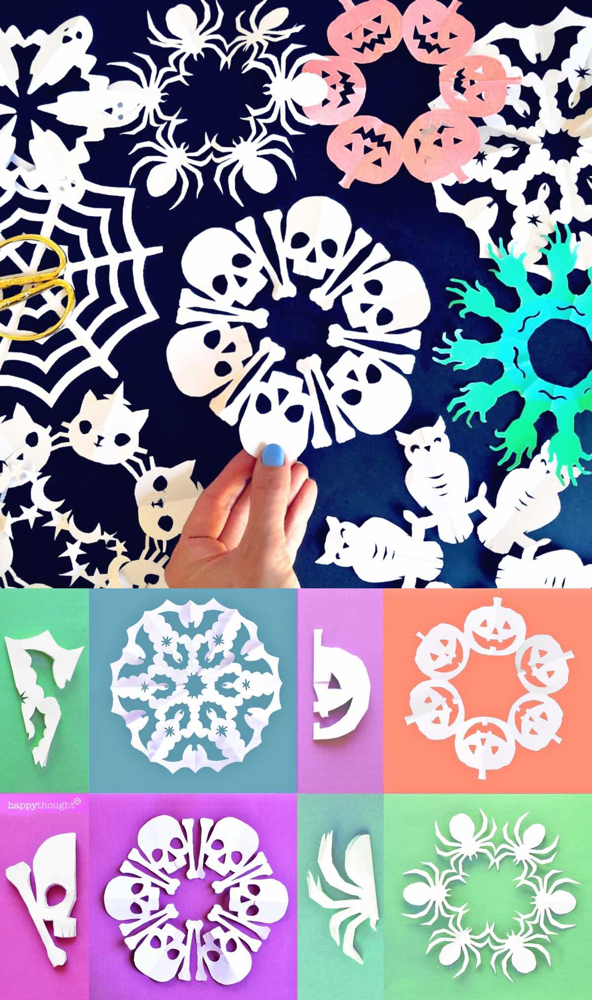 How to make halloween snowflakes at home as decorations