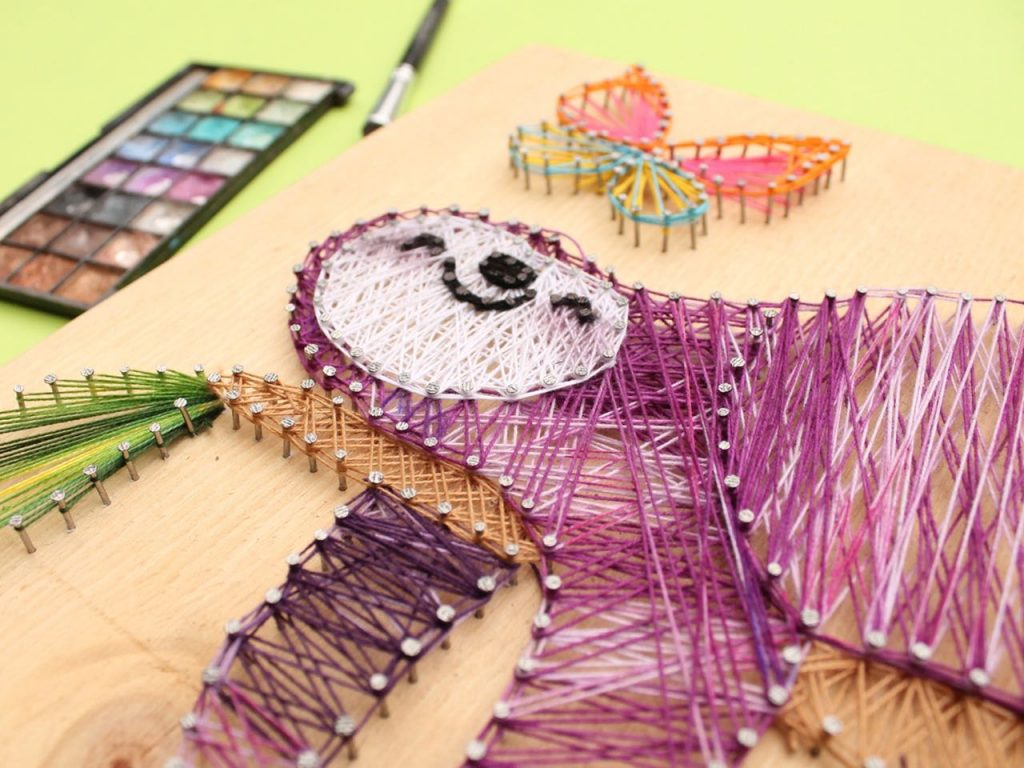 How to make beautiful string art - Step by step Sloth string art
