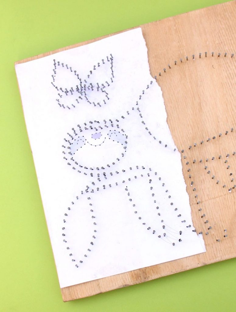 How to make string art -Make and create this beautiful sloth craft